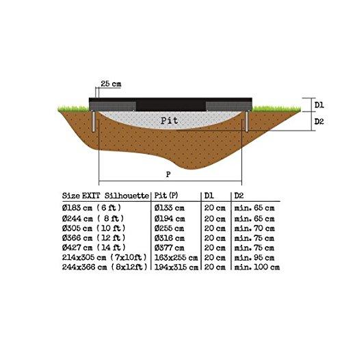EXIT Silhouette Bodentrampolin Trampolin 305cm 12941000 - 3