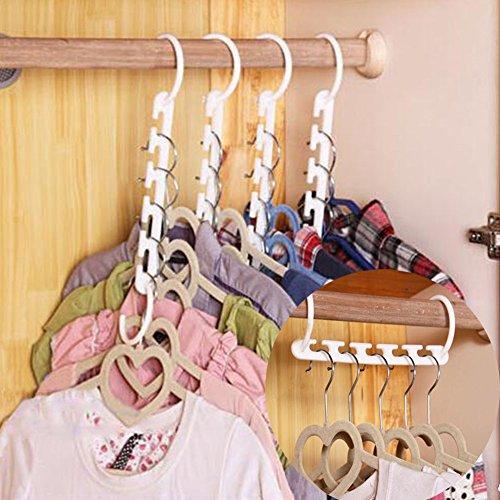 Kleiderschrank Magic Kleiderbügel, Stauraum spart Kleidung Kleiderbügel Haken für Haushalt Organizer