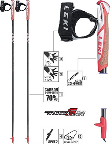 LEKI Nordic Walking-Stock grau 110