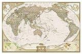 Weltkarte Executive, politisch, Pazifik zentriert, laminiert, großes Format: NATIONAL GEOGRPHIC Weltkarte (National Geographic Reference Map)