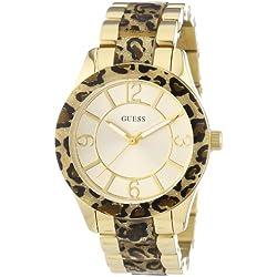 Guess W0014L2 - Reloj con correa de acero para mujer, color dorado/gris