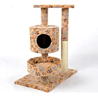 MUJING Color Pequeño Paw Cat Tower Apartment Muebles Scratch Post Pet House Play House