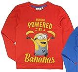 Minions Ich einfach unverbesserlich Despicable Me T-Shirt langarm (116, Rot)