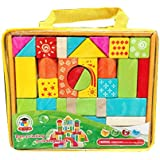 31 Pieces Wooden Building Blocks Learning Educational Toy Set For Kids (multicolor)