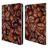 Head Case Designs Offizielle PLdesign Braune Kaffebohnen Nahrung Brieftasche Handyhülle aus Leder für iPad Air 2 (2014)