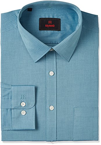 Raymond Men's Formal Shirt (8907576942845_RMSZ06759-P6_39_Dark Petrol)