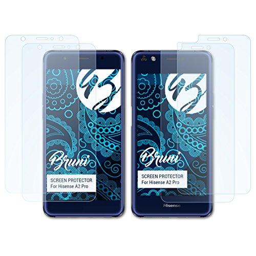 Bruni Schutzfolie kompatibel mit Hisense A2 Pro Folie, glasklare Bildschirmschutzfolie (2er Set)