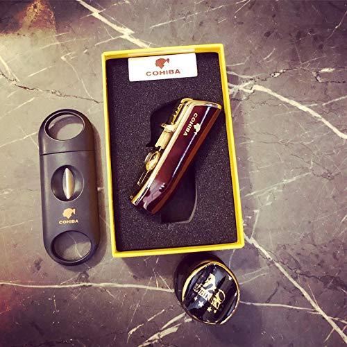 TheCigarHolder Zigarre-Geschenkpaket: Zigarettenanzünder, Zigarrenablage, Cigar v Cutter - Feuerzeug Zigarren-cutter Und