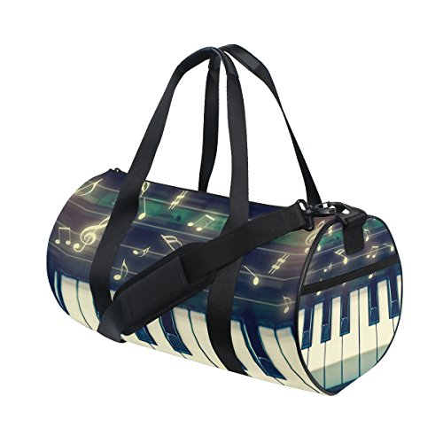 Ahomy Turnbeutel Duffle Bag Musik Note Keyboard Sport Tasche für unterwegs Reisetasche Wochenende Reisetasche