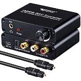 Tendak Digital Optischer Koaxial zu Analog Stereo R/L RCA und 3.5mm Jack Audio Decoder Konverter