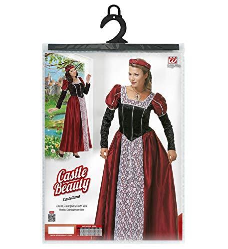 Widmann 35482 – Erwachsenenkostüm Burgfräulein, Kleid mit Kopfbedeckung und Schleier - 5