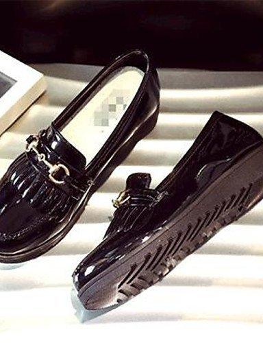 ShangYi gyht Scarpe Donna-Mocassini-Tempo libero / Casual-Comoda-Piatto-Finta pelle-Nero / Bianco / Borgogna Black