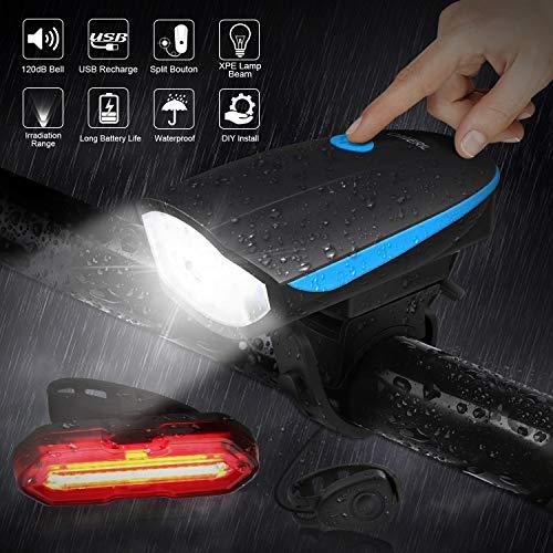 Zoom IMG-2 omeril luci bicicletta led ricaricabili