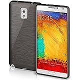 Funda protectora OneFlow para funda Samsung Galaxy Note 3 Carcasa silicona TPU 1,5mm | Accesorios cubierta protección móvil | Funda móvil paragolpes bolso cepillado aluminio diseño en Slate-Black