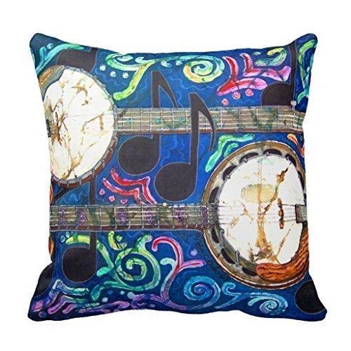 Banjos Throw Pillow Case Cushion Home Sofa Decorative 18 X 18 Inch