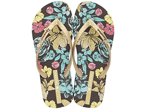 Femme Tongs ipanema Paraiso fem 81840 Multicolore - braun-golden-blau (22907)