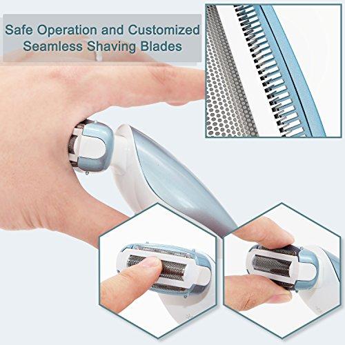 EUNON Afeitadora Electrica Mujer - Maquina de Afeitar afeitadora corporal  para Bikini Piernas Axilas 1fc211f4f368
