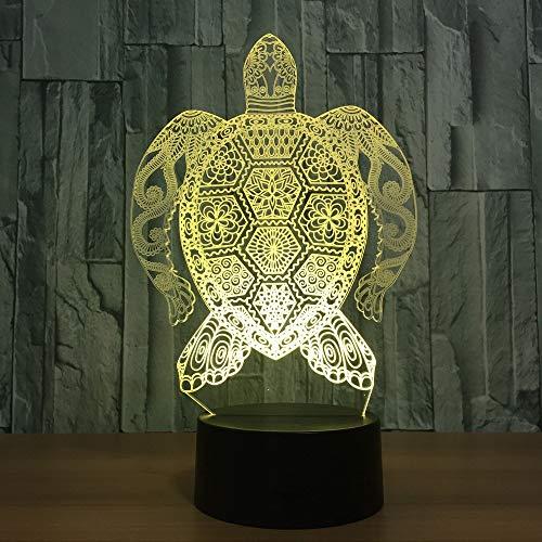 Crjzty 3D Led Tischleuchte Starke Sea Turtle Muster Lichter Usb 7 Farben Ändern Baby Schlaf Nachtlichter Schlafzimmer Dekor Visuelle Geschenke -