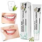 Aktivkohle Zahnpasta, Teeth Whitening, Natürliche Zahnaufhellung, weiße Zähne und Zahnreinigung, Whitening Toothpaste, iSuri Minzgeschmack Schwarze Zahnpasta Fluoridfrei