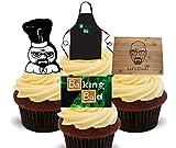 Made4You Baking Bad/LET 'S COOK, essbaren Kuchen Dekorationen–Stand-Up Wafer Cupcake Topper, 12er-Pack