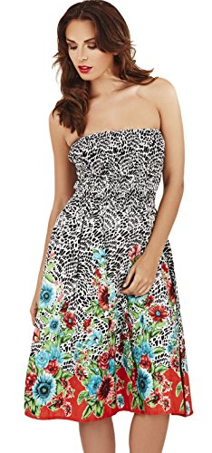 Pistachio Womens Sunflower Mosaic 3 In 1 Dress - Black/Red - Small