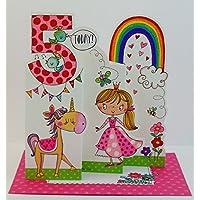 Rachel Ellen Age 5 Princess Birthday Card