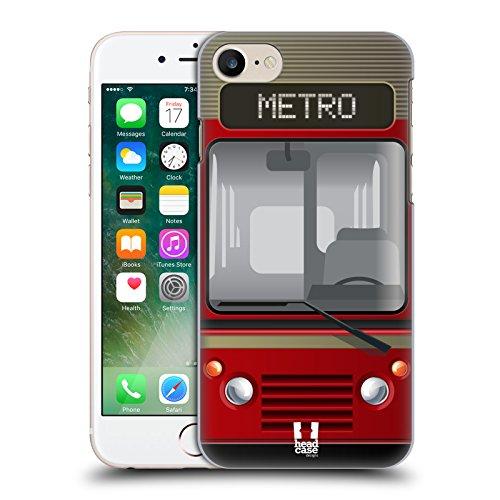 Head Case Designs Dolce Marinaio Autobus Cover Retro Rigida per Apple iPhone 7 Plus / 8 Plus Metro Veloce