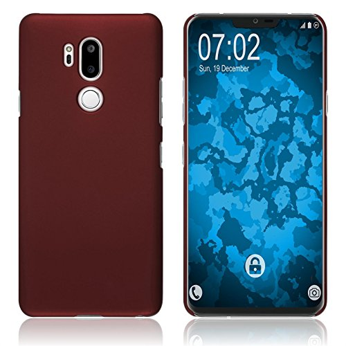 PhoneNatic Case kompatibel mit LG G7 ThinQ - Hülle rot gummiert Hard-case Cover Rot Hard Case