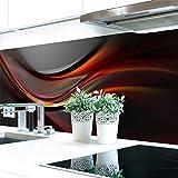 Küchenrückwand Abstrakt Dunkel Premium Hart-PVC 0,4 mm selbstklebend 280x60cm