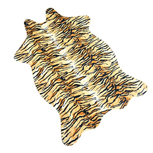 Alfombra Estampado imitación piel de animal alfombra,110cm x 75cm (Tigre)