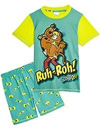 Scooby Doo Pijama Niño, Pijamas Niños Cortos Conjunto 2 Piezas, con Estampado Shaggy, Ropa Niño de Dormir, Regalos para Niños y Adolescentes Edad 3-12 Años