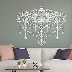 Mandala Vinilo Pegatinas de Pared Flor de Loto Hola Bohemio calcomanía removible Estudio de la decoración de Dormitorio de Estudio 42 * 52 cm