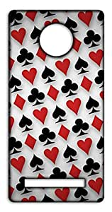 Happoz Card Symbols Mobile Phone Back Panel Printed Fancy Pouches Accessories Z1515