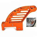 Motorräder Bremsscheibenschutz Rear Brake Disc Cover für KTM SX 125 144 150 200 250 SXF 250 300 450 505 EXC 125 200 250 300 400 450 EXCF 300 XC150 200 250 300 400 450 525(Orange)