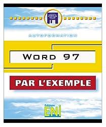 Word 97 par l'exemple