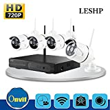LESHP 720P Kameras 4CH WIFI CCTV Kit NVR Wireless Security Funküberwachungssystem CCTV Surveillance Systeme Stecker und spielen Indoor-/Outdoor