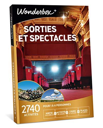 Wonderbox - Coffret cadeau culturel pour noel - SORTIES ET SPECTACLES