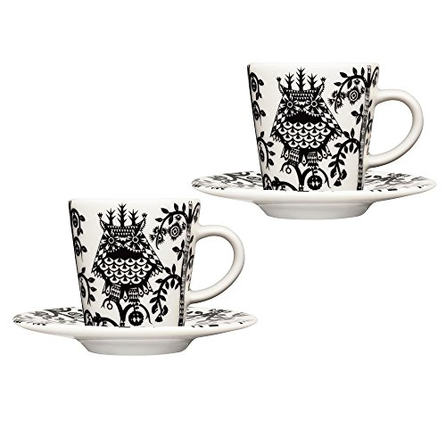 Taika Espressotassen Set 2tlg, schwarz 2 x Tasse 0,1l 2x Teller Ø 11cm - Teller 11