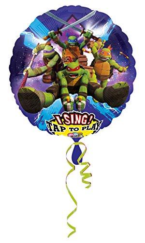 amscan 3165501 Folienballon Sing-A-Tune Teenage Mutant Ninja - Einfach Teenage Mutant Ninja Turtle Kostüm