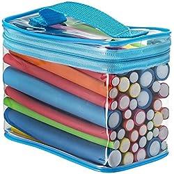 Pinkiou 42 Piezas 7 Tamaños Rodillos Flexibles Rodillos Twist-flex Rod Flex Flexionador de Cabello Juego de Rodillos Juego de Rodillos de Espuma de Pelo (Color Aleatorio)