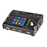 HTRC HT206 AC / DC DUO 200W x2 20A x2 Dual Port 4.3 Zoll Farb-LCD Touchscreen RC Balance Ladegerät für Lilon / LiPo / LiFe / LiHV / Ni-MH / Ni-CD Akku