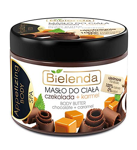 Body Toning Oil (Body Butter Chocolate & Caramel + Almond Oil 200ml by Bielenda /Toning, Moisturising & Energy Adding Effect /The Skin Remains Regenerated, Renewed & Protected Against Excessive Drying)