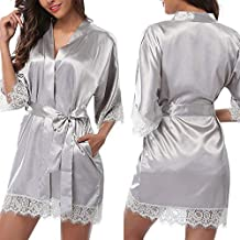 Bata Personalizada, Bata De Seda para Mujer Vestidos De Novia Bata De Satén Tallas Grandes