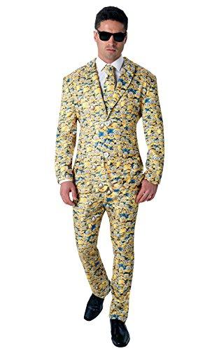 Despicable Me Kostüme Für Uk Erwachsene (Rubie 's Offizielles Herren-Minion Icon Anzug Crazy Kostüm–Standard)