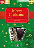 Merry Christmas, die schönsten Weihnachtslieder für Akkordeon mit 2 Playback-CDs