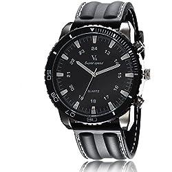 Man, quartz watch, fashion, retro, silica gel, M0136