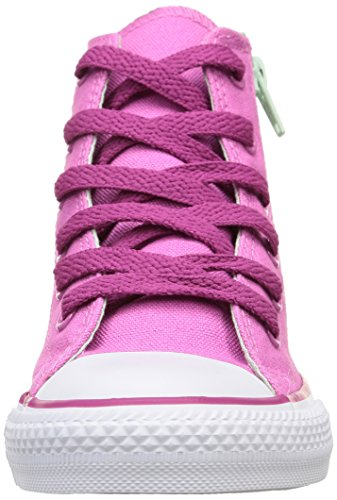 Converse - Ct Side Fund Zp, Sneakers infantile Rosa (Rose/Vert Menthe)