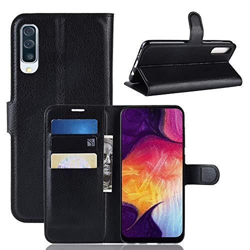 Fertuo Cover Samsung A50 Custodia Portafoglio Cover Libro Pelle Flip Case con Silicone Bumper Fibbia Magnetica Porta Carte Kickstand per Samsung