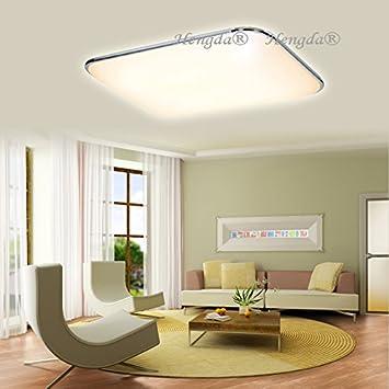 HengdaR 96W LED Deckenleuchte 230v Kchen Badleuchte Wohnzimmer Deckenlampe 2700K 3200K Warmweiss Leuchte 1080LM Amazonde Kche Haushalt