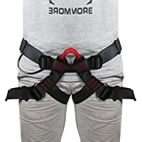Lukher Climbing Harness - Protect Leg Waist Wider Safe Seat Belts For Mountaineering Outward Band Fire Rescue Caving Rock Climbing Rappelling, Women Man Child Half Body Guide Harness by Lukher